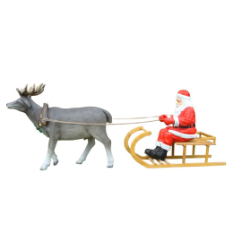 St Claus with sleigh and reindeer