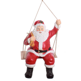 Santa Claus on the swing