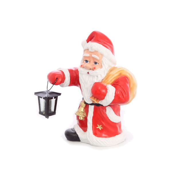 Santa Claus with a lamp