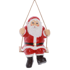 Sanata Claus on the swing