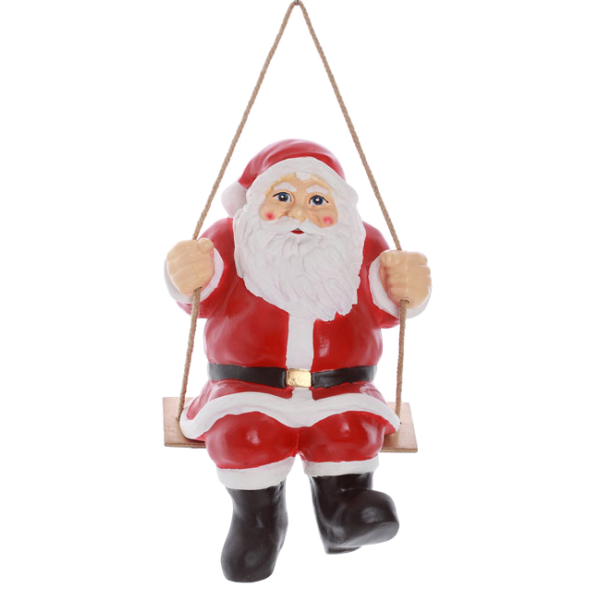 Sanata Claus on the swing
