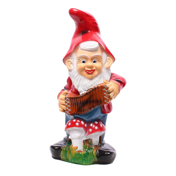 Gnome with an accordion