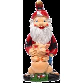 Gnome with a piggy