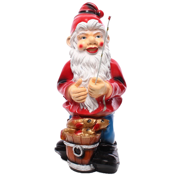 Gnome with a fishing rod