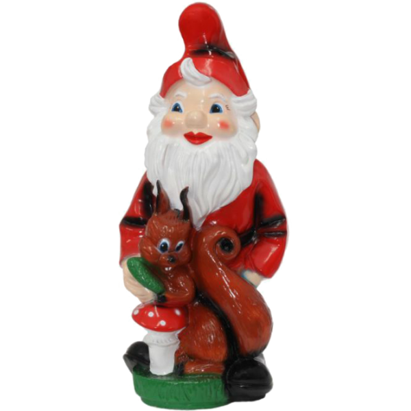 Gnome with a squirrel