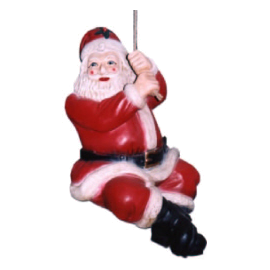 Santa Claus on the rope