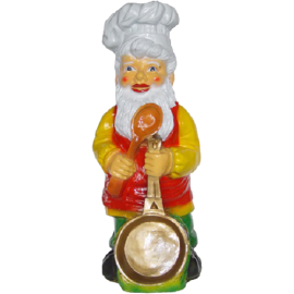Gnome with a frying pan