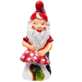Gnome with a toadstool